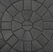 Sandstone/Cobble Driveway Look in Concrete